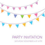 Modern vector party invitation card