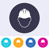 Vector abstract safety helmet sign icon