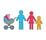 Vector infographic family icon