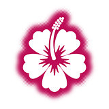 Decorative vector hibiscus flower icon