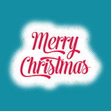 Merry christmas vector card lettering