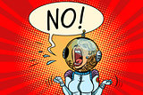 No screaming girl astronaut