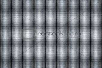 silver coins stack background