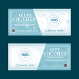gift voucher 100 dollars, special winter present, two text labels