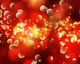 Christmas bokeh lights background