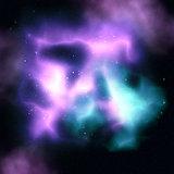 Nebula sky with stars