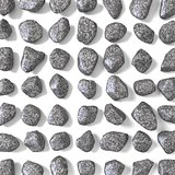 Abstract array made of rocks 3D