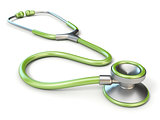 Green medical stethoscope 3D