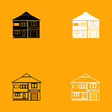 House black and white set icon.
