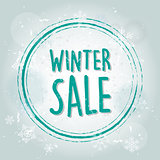 winter sale with snowflakes banner