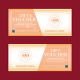 gift voucher 100 dollars, special present, two text labels