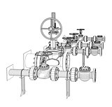 Wire-frame industrial valves
