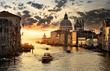 Beautiful calm sunset in Venice