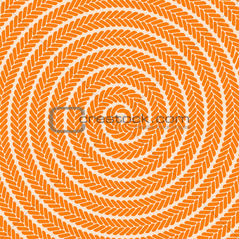 Abstract Orange Spiral Pattern