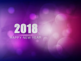 happy new year 2018, violet purple greeting card