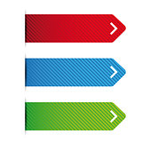Empty ribbon vector set