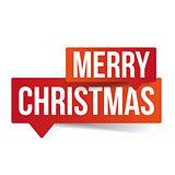 Merry Christmas speech bubble