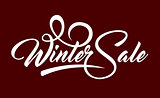 White text Winter Sale