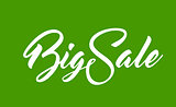 White text Big Sale