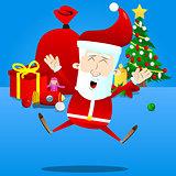 Happy smiling Santa Claus.