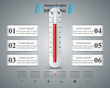Thermometer, health icon. Business infographic.