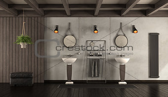 Classic bathroom with washbasin