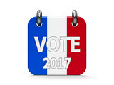 Vote election 2017 icon calendar