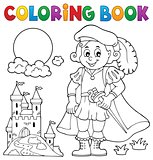 Coloring book prince and castle 1