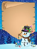Parchment with Christmas snowman theme 3