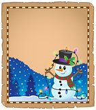 Parchment with Christmas snowman theme 4