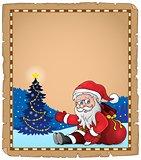 Santa Claus subject parchment 1