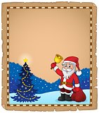 Santa Claus with bell theme parchment 5