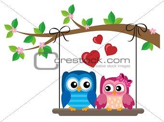 Valentine owls theme image 6