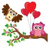 Valentine owls theme image 7