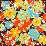Childish floral background