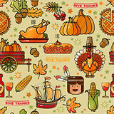 Thanksgiving Holiday Texture. Seamless Pattern.