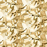 Vector gold crumpled foil seamless background.