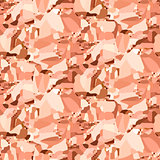 Vector copper crumpled foil seamless background.