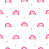 Abstract cute rainbow seamless vector pattern.