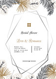 Wedding invitation vector template design.