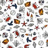 sea pattern With small drawings. Vladivostok
