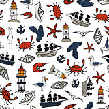 sea pattern With small drawings. Vladivostok