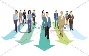 Forward, future concept, illustration