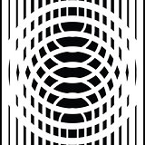 Black and white circular lines