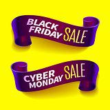 Black friday sale ribbon