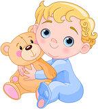 Creeping Baby & Teddy Bear