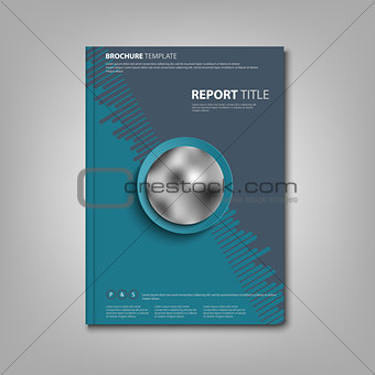 Brochures book or flyer with abstract blue pattern