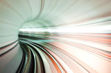 Train tunnel abstract