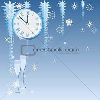 Blue Christmas clock