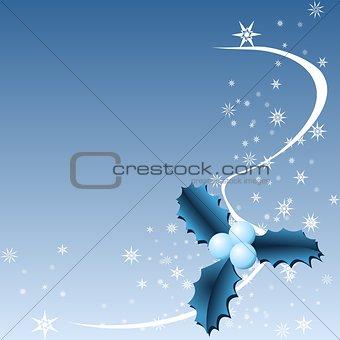 Blue Christmas holly